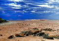 Lake Ballard--(salt pan) in the northern goldfield Stock Photos