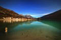 Lake of barcis italy a beautiful artificial origin in valcellina to meters altitude Royalty Free Stock Images