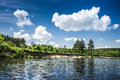 Lake and beautiful cloudy sky Royalty Free Stock Photo
