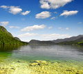 Lake Bohinj in Julian Alps Royalty Free Stock Photography