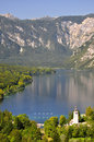 Lake bohinj in julian alps slovenia Stock Photo