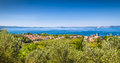 Lake bolsena province of viterbo lazio italy panoramic view lago di central Royalty Free Stock Photography