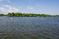 Lake in bucharest herastrau a sunny day romania Royalty Free Stock Photo