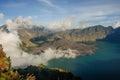 Lake and caldera Royalty Free Stock Photo