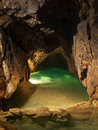 Lake in cave Royalty Free Stock Photo