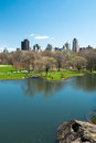 Lake in central park Royalty Free Stock Photo