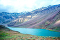 Lake Chandra Taal, Spiti Valley Royalty Free Stock Photo