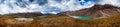 Lake Chandra Taal, Spiti Valley panorama Royalty Free Stock Photo