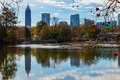 Lake Clara Meer and Midtown Atlanta, USA Royalty Free Stock Photo