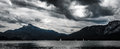 Lake clouds above mondsee before a storm salzkammergut austria Stock Photography