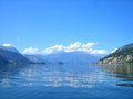 Lake como floating around on Royalty Free Stock Photos