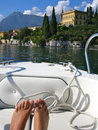 Lake como floating around on Stock Image