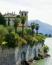 Lake Como Mansion Royalty Free Stock Photo