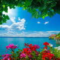 Lake constance beautiful view over the in meersburg germany Royalty Free Stock Photography