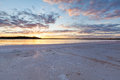 Lake crossbie at sunset murray sunset national park victoria australia Royalty Free Stock Images