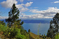 Lake danau toba north sumatra indonesia Royalty Free Stock Images
