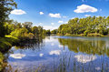 A lake of the danube auen national park vienna one many lakes it covers square kilometres in and lower austria and is one Royalty Free Stock Photo