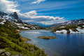 Lake on dientes de navarino scenic view of in southern chile Royalty Free Stock Photo