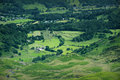 Lake district farmland landscape showing from above Stock Photography