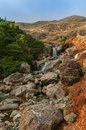 Lake district mountain stream in the coppermines valley coniston english cumbria Royalty Free Stock Image