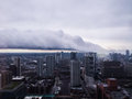 Lake Effect storm cloud diving into City of Chicago Royalty Free Stock Photo