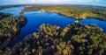 Waterfalls Emerald Lake Forest Landscape