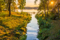 Lake and forest Royalty Free Stock Photo