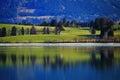 Landscape idyll deep colors at fall Royalty Free Stock Photo