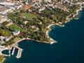 Lake Garda Coast Aerial Stock Photography