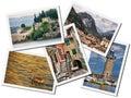 Lake Garda collage Royalty Free Stock Photo