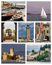 Lake Garda collage Royalty Free Stock Photo