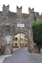 Lake garda lazise italy old city wall of Stock Image