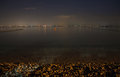Lake Garda at night Royalty Free Stock Photo