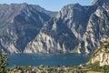 Lake Garda, a panorama montain Royalty Free Stock Photo