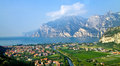 Lake garda view of lago di northern part of the largest italian Stock Images
