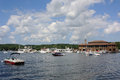 Lake geneva wi a beautiful view of the in on a summer day Royalty Free Stock Image