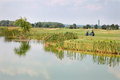 Lake at the golf course in west slovakia Stock Photography