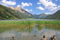 Lake Haldensee,Tirol,Tannheimer Tal,Austria Royalty Free Stock Photos