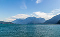 Lake at Harrison Hot Springs village Canada Royalty Free Stock Photo