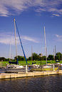 Lake Hefner Sailboats Stock Image