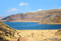 Lake and hills in Peru Stock Photos