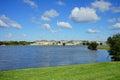 Lake and house Royalty Free Stock Photo