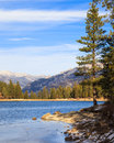 Lake hume landscape in early winter sequoia and kings canyon national park california Royalty Free Stock Photo