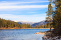 Lake hume winter landscape in early sequoia and kings canyon national park california Royalty Free Stock Images