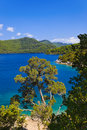 Lake at island Mljet in Croatia Stock Images
