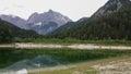 Lake jasna in kranjska gora Royalty Free Stock Photo