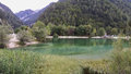 Lake jasna in kranjska gora Royalty Free Stock Photography