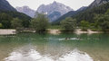 Lake jasna in kranjska gora Royalty Free Stock Images