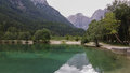 Lake jasna in kranjska gora Stock Photo
