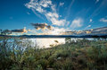 Lake Jindabyne in NSW. Royalty Free Stock Photo